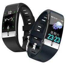 Reloj inteligente E66, pulsera deportiva para la salud, ECG, medición de la temperatura, ritmo cardíaco, presión arterial y oxígeno
