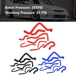 Image 5 - 9pcs Auto Silicone Radiator Hose Kit for Honda Civic D15 D16 SOHC EG/EK 1992 1993 1994 1995 2000 Car Accessories 4.5mm Thickness
