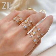 Zn простое милое Австралийское Кристальное кольцо с подсолнухом