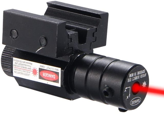 US Red Dot Laser Sight for Picatinny and Rifle with 635-655nm Adjustable 11mm/20mm Picatinny/Weaver Mount 3