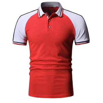 Męska koszulka polo męska koszulka Polo z krótkim rękawem męska koszulka w kontrastowym kolorze letnia koszulka Polo męska Streetwear moda codzienna męska topy tanie i dobre opinie TJWLKJ Na zakupy SHORT Młodzieńcza witalność summer CN (pochodzenie) COTTON REGULAR NONE Patchwork Szybkoschnące Kolor kontrastu