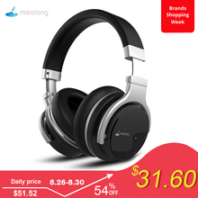Meidong E7B Active Noise Cancelling Bluetooth Headphones Wireless Headset with Microphone over Ear Stereo Deep Bass 30H Playtime mpow h1 wireless headphones hd hifi stereo noise cancelling headphones with microphone over ear bluetooth headset for iphone