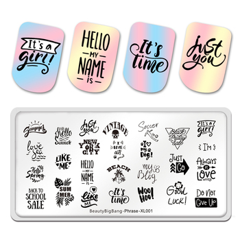 Beautybigbang New Stamping Plates Phrase Words Style Love Sea Summer Good Image Stainless Steel Stencil Nail Art Template Stamp недорого