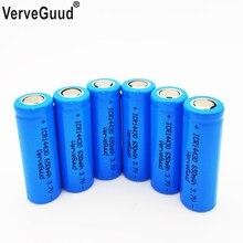 Bateria recarregável do li-íon de verveguud 14430 650mah icr14430 baterias da baixa descarga do auto de batteria do lítio de liion 3.7v
