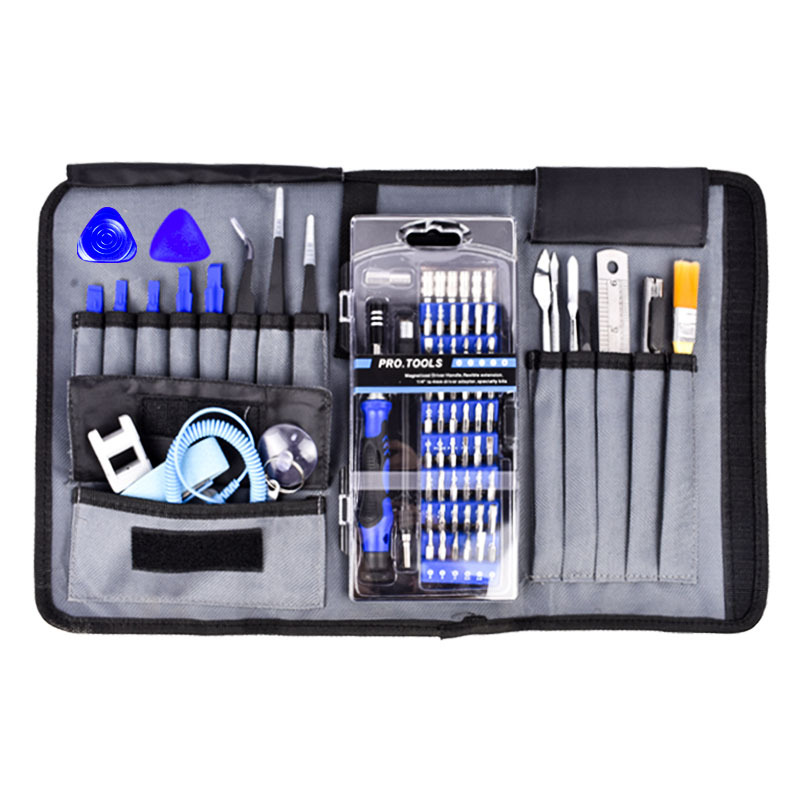 Portable Hand Tools set for Phone Electronics Repair Tool Kit 82 in 1 with 57 Bit Magnetic Driver Kit Precision screwdriver set