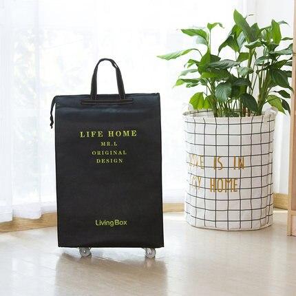 Портативная тележка для продуктов Женская Мужская сумка складная сумка тележка Сумка на колесах купить Сумка для овощей хозяйственная сумка трейлер XYLOBHDG - Цвет: K