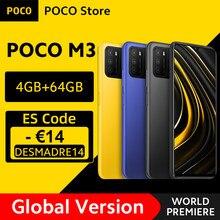 POCO M3 – Smartphone Snapdragon 662 Octa Core, Version globale, 4 go de RAM, 64 go de ROM, batterie 6000mAh, caméra 48mp, en Stock