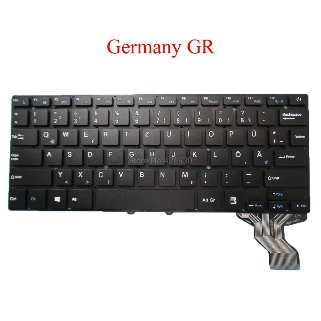 Portátil eua fr gr br teclado para