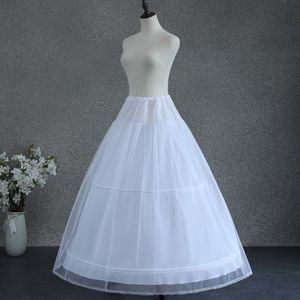 Image 4 - Women White Wedding Petticoat 2 Hoop Double Layer Bridal Crinolines with Tulle Netting Underskirt Half Slips for Ball Gown Dress