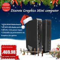 [I5-9400F/i7 8700/i3 9100F] игровой ПК Intel 6 ядер 6 потоков Nvidia GTX 1050 4GB Mini PC 2 * DDR4 2 * HDMI 2,0 1 * DP 1 * DVI WiFi