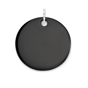 Image 1 - Black Onyx Huge Disc Pendants Silver Plated Fit Chain Necklaces Bracelets, Size 45mm Thomas Style Glam Disk Ts Jewelry for Women
