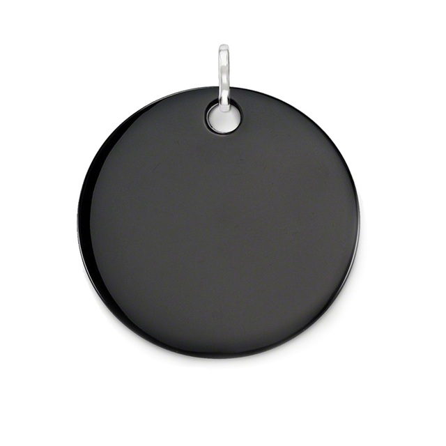 Black Onyx Huge Disc Pendants Silver Plated Fit Chain Necklaces Bracelets, Size 45mm Thomas Style Glam Disk Ts Jewelry for Women