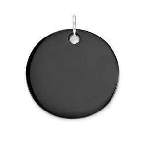 Image 1 - Czarny onyks ogromne płyty wisiorki posrebrzane Fit Chain naszyjniki bransoletki, rozmiar 45mm Thomas Style Glam Disk Ts biżuteria dla kobiet