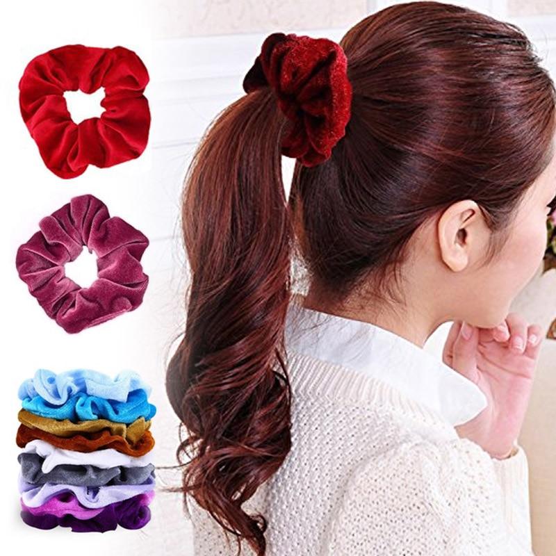 Ladies Hair Band Fashion Multicolor Head Rope Alloy Headband 10pcs Durable Retro Ponytail 20pcs Accessories Punk Jewelry