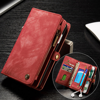 Leather Case For iPhone X XS XR 11 PRO MAX 8 7 plus 6 6S 6 Plus 7Plus Multi Functional 2 in 1 Leather Wallet Cover Phone Cases