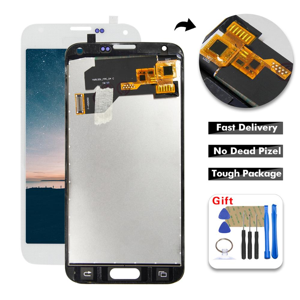 100% Tested LCD For SAMSUNG Galaxy S5 i9600 G900 G900F G900A LCD Display Digitizer Touch Panel Screen Assembly + Free Tools(China)