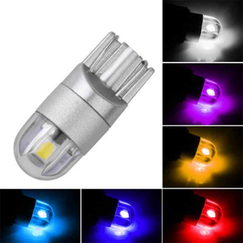 1 Pza bombillas LED T10 blanco 168 501 W5W lámpara LED T10 cuña 3030 2SMD luces interiores 12V 6000K bombillas de luces de estacionamiento