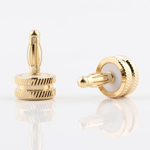 Image 1 - Hifi audio 8pcs CA705 gold plated Noise Stopper Amplifier Terminal Binding Post Caps
