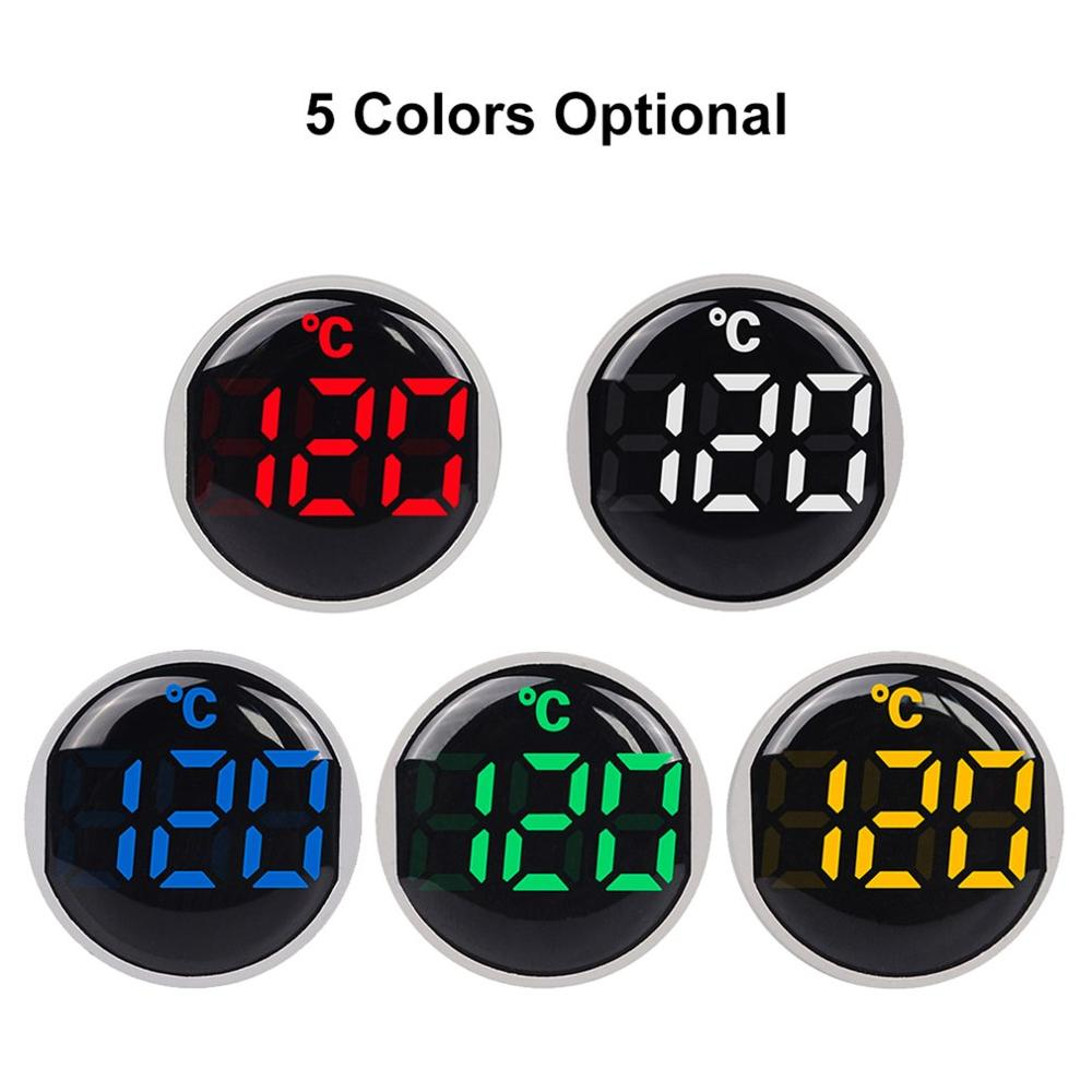 ST16C 22mm Round LED Digital Display Thermometer Temperature Meter Tester Indicator Signal Light -20-120 Celsius