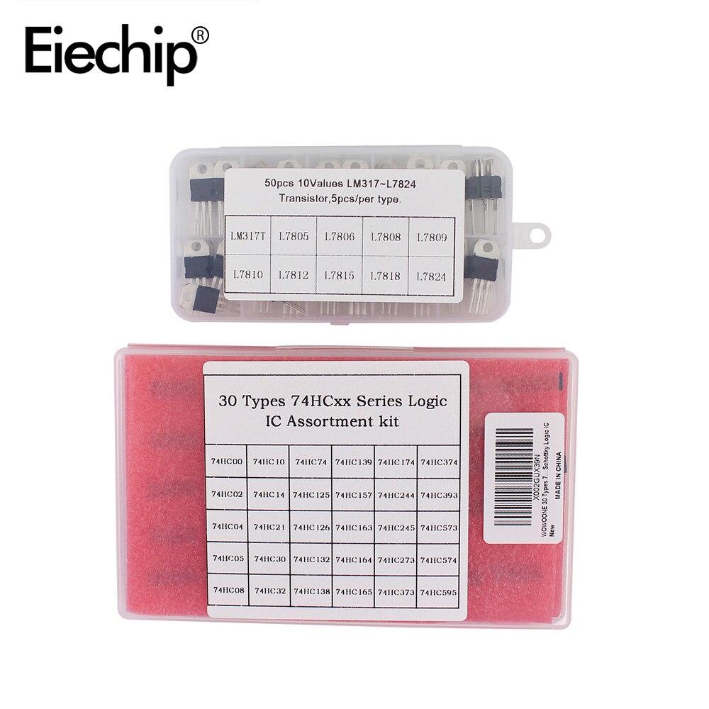Интегральная схема Logic IC 74HC00 74HC595, чип DIP, L7805CV транзистор стабилизатора напряжения TO220, набор электроники DIY
