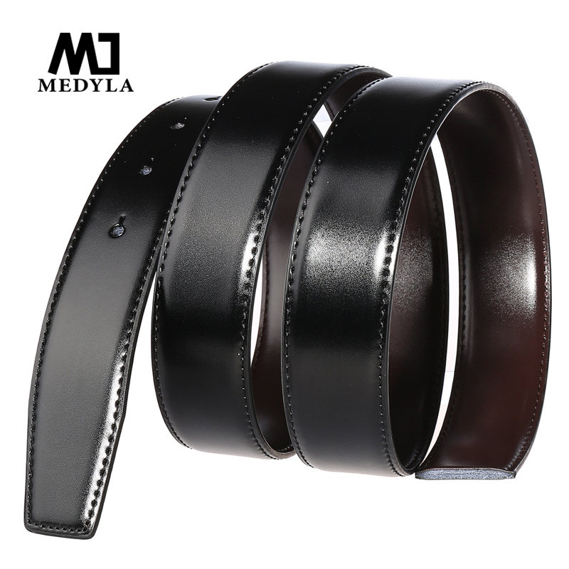 3.5cm Width Genuine Leather Belt Both Sides Can Be Used No Buckle Designer Belts Men High Quality Leather Belt No LOGO