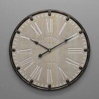 Relógio de parede grande de metal  design moderno  estilo antigo  decoração 3d  relógios de pendurar  arte de ferro  relógio de parede  decoração de café 50 cm comprimento