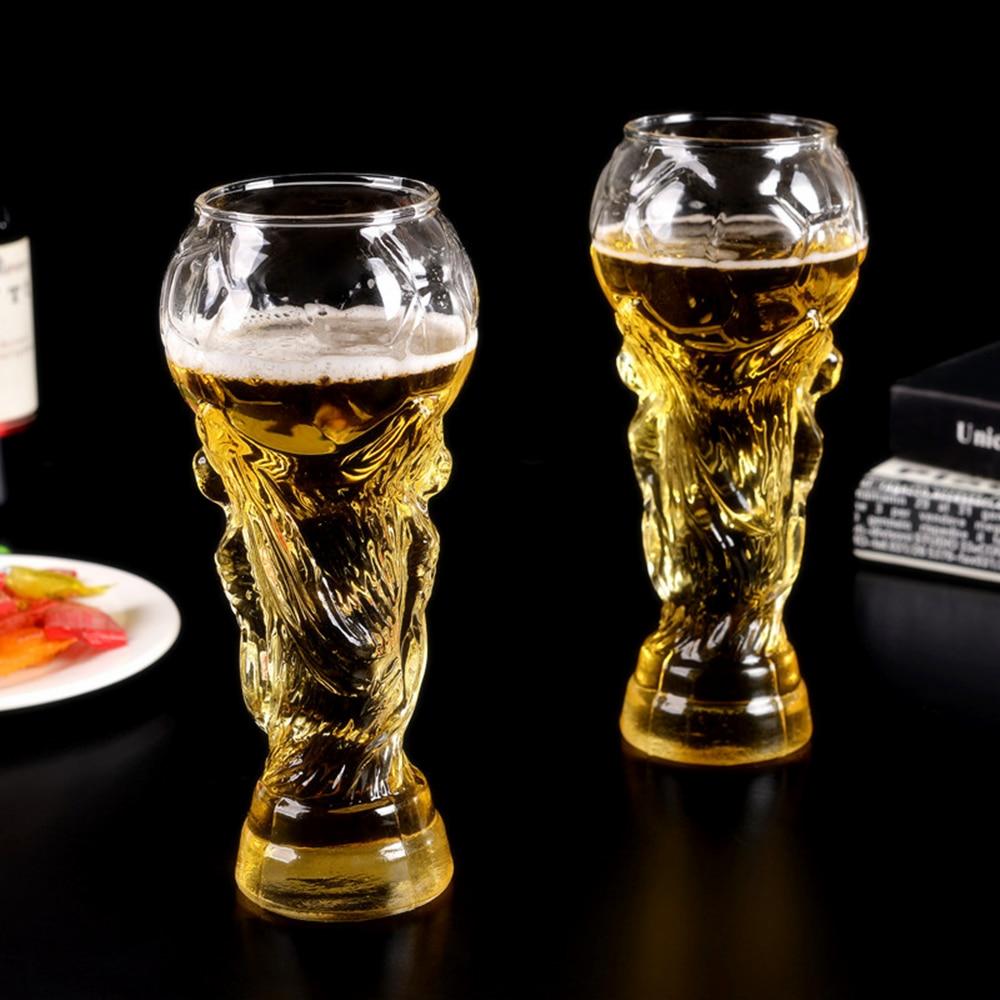 Water-Mug Football-Game 350ml Glass-Cup Cup-Design Crystal Beer Barware Party Creative