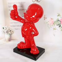 83 cm Abstract Reds Like People Statue Figure Art Sculpture Figurine Resin Home Decoration Accessories For Living Room R2322