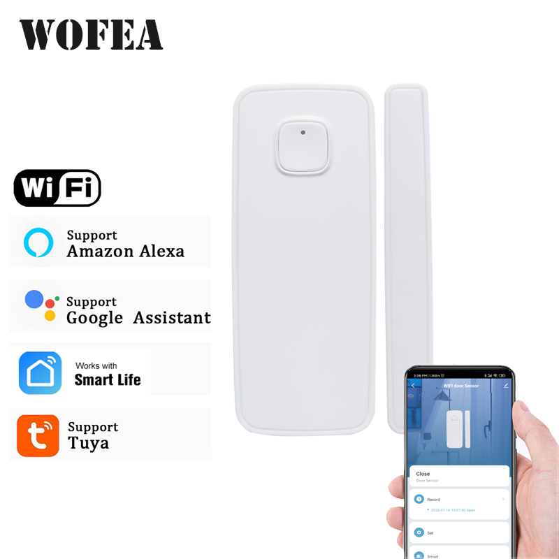 Tuya smartlife WIFI Door   Window Detector WiFi App Notification Alerts  Security Sensor support alexa google home no need hub