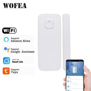 Image 1 - Tuya smartlife WIFI kapı/pencere dedektörü WiFi App bildirim uyarıları güvenlik sensörü desteği alexa google ev gerek yok hub