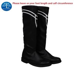 Image 5 - Manluyunxiao أحذية عالية Byleth تأثيري هالوين زي للرجال الكبار النار شعار ثلاثة منازل فو الجلود السوداء الذكور الأحذية