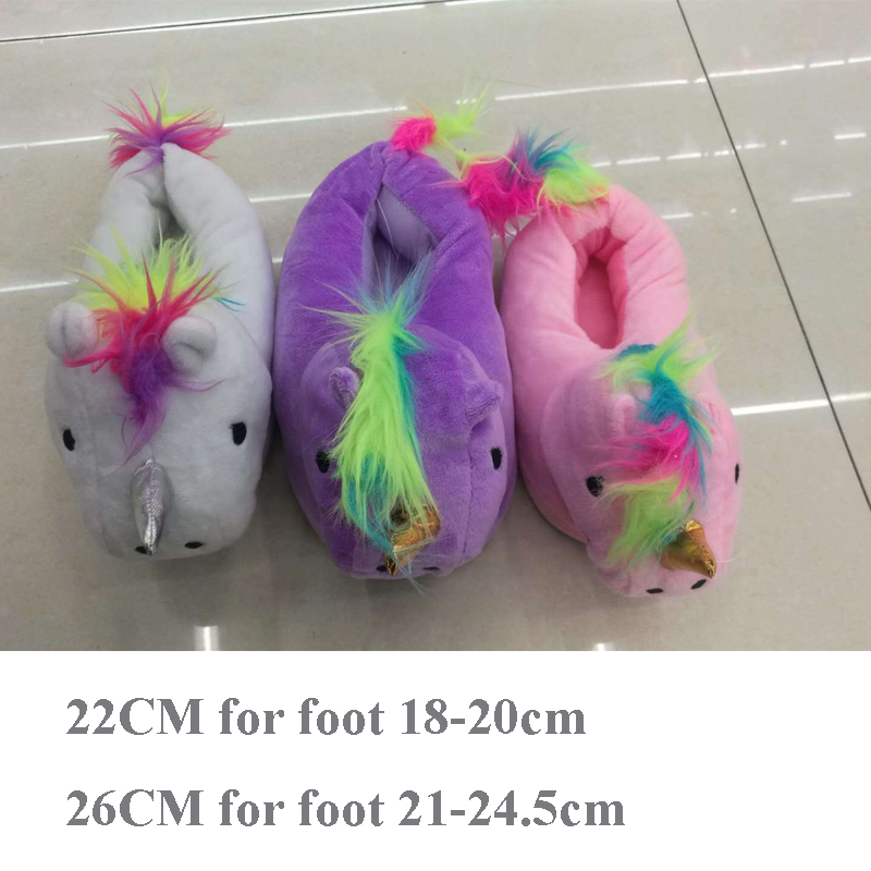 New Kids Unicorn Slippers Baby Boys Girls Home Shoes Children Cartoon Animal Kigurumi Onesies Pajama Adult Casual Cosplay Winter