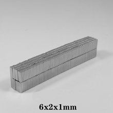 50~2000PCS 6x2x1 Block Magnet sheet N35 6mm x 2mm Neodymium Magnet 6*2*1Permanent NdFeB magnet Strong Powerful Magnetic 6*2*1mm(China)