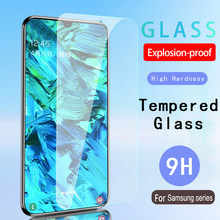 9H Full Tempered Glass On For Samsung Galaxy A70 A60 A50 A40 A30 A20 A10 Screen Protector A80 A90 M10 M20 M30 M40 Glas Film Case