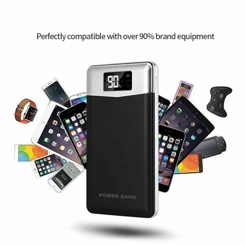 כוח בנק 30000 mAh נייד טלפון מטען עבור Xiaomi סמסונג IPhone LCD תצוגה דיגיטלית 2 LED תאורה חיצוני נסיעות Powerbank