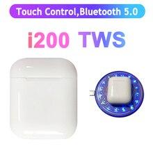 i200 TWS датчик Inteligente+ Сенсорное управление+ Беспроводная зарядка Bluetooth 5,0 8D бас наушники PK i3000 i9000 i2000 i9999