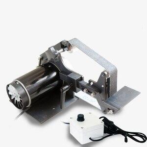 220В Настольный ленточный шлифовальный станок DIY работа по дереву полировка машина 0-7500 об/мин 762x25 мм или 762x35 мм ленточный станок Y