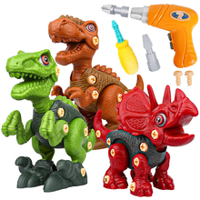 Dinosaur Toys Building Toy Set with Electric Drill Construction Engineering Play Kit Learning for Kids Children Age 3+ Year Old