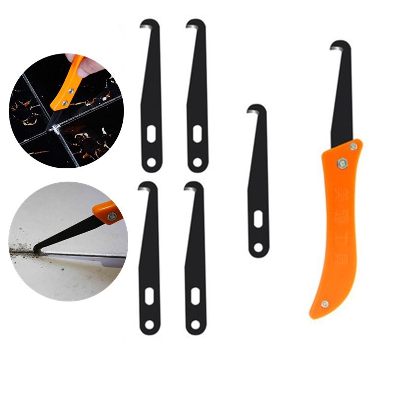 1set Professional Tile Gap Repair Tool for Removal Plastic Spacer Cross Cleaning floor Grout Notcher Collator Hook Knife