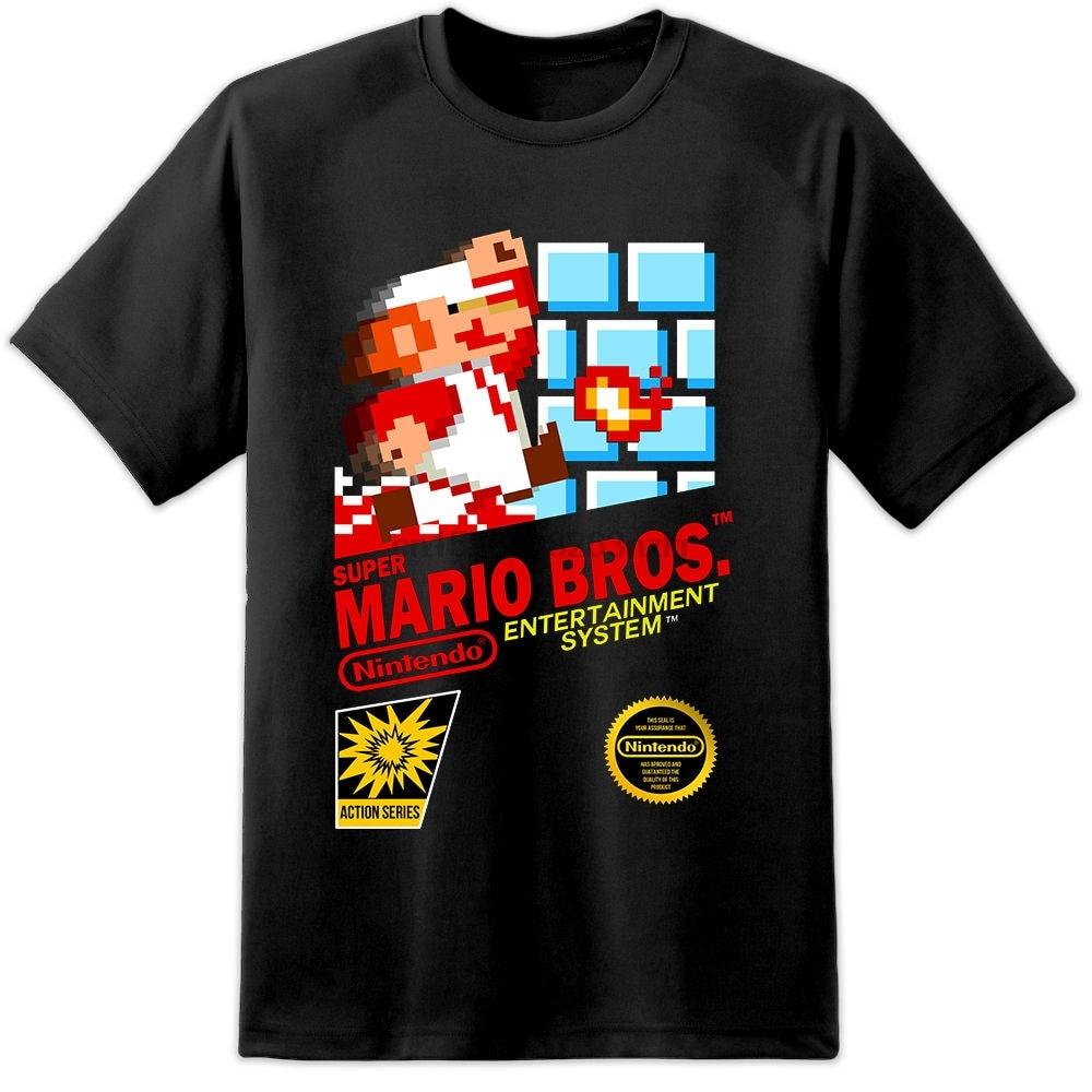 Super Mario Brothers Retro Nes Game Cover T Shirt Nintendo S 3xl