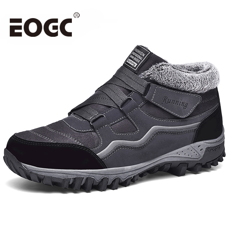 Waterproof Winter Men boots Warm With Fur Snow Boots Men Work safety shoes Women boots Footwear Fashion Rubber Ankle boots image