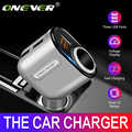 Onever 3 port USB araba şarjı araç çakmak soket Splitter 5V 3.1A 12 V-24 V Max 80W güç adaptörü gerilim ekran