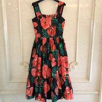 Vintage Floral Print Summer Dress Summer Celmia Sexy Straps Casual Bohemian Beach Sundress Fashion Long Dress