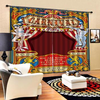 European 3D Curtains Christmas pattern design Curtains For Living Room Bedroom Customized size Luxury Blackout 3D Window Curtain