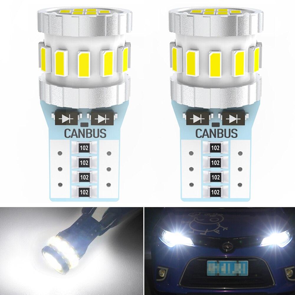 2X T10 W5W светодиодные CAN-шины 18SMD 3014 Светодиодные парковочные внутренние фары для Ford Focus 2 3 Fiesta Mondeo MK4 MK2 MK3 Fusion белый