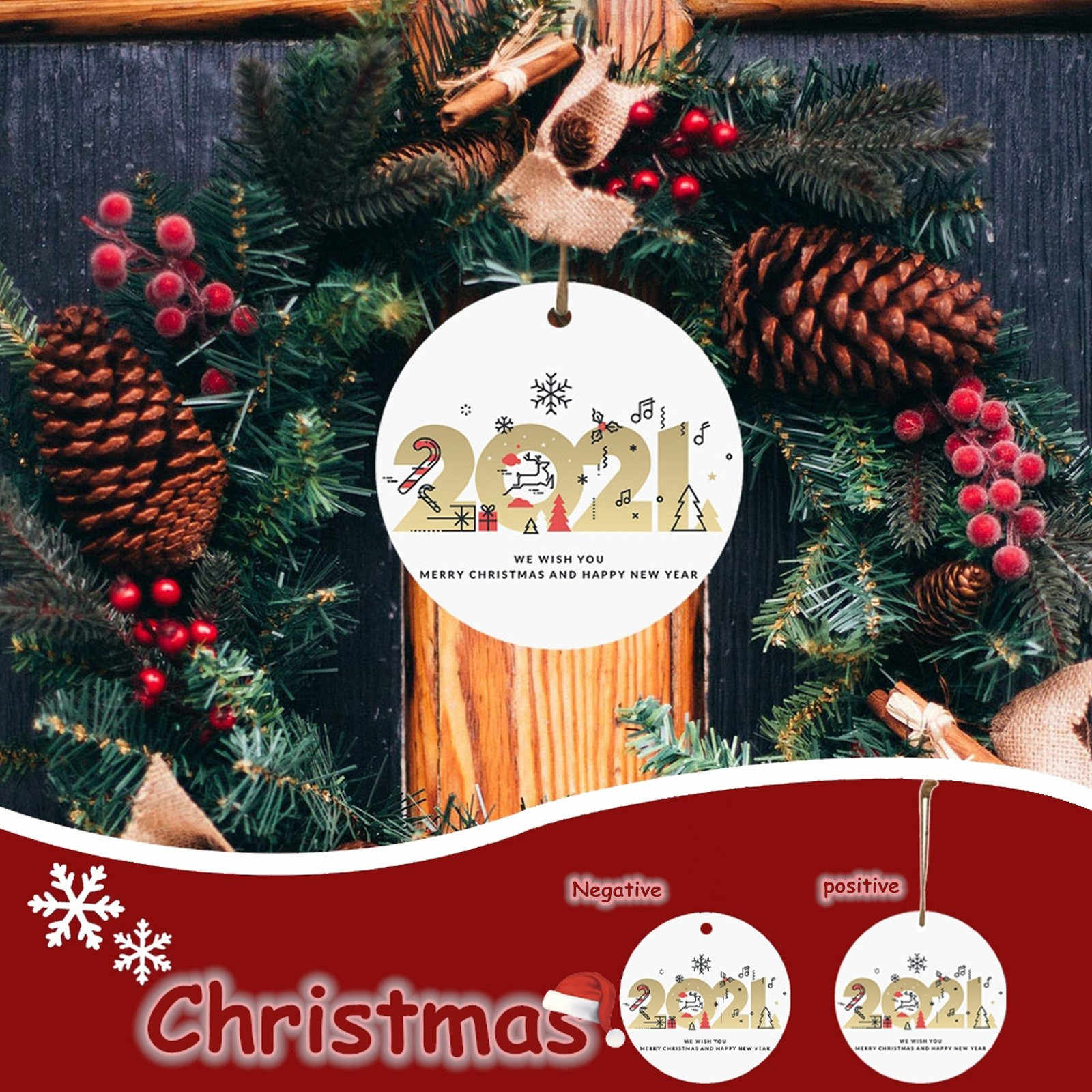 Special 2021 Holiday Christmas Ornaments 2021 Happy New Year Christmas Decorations Fashion Unique Shopping Mall Decorations Special Christmas Tree Pendant Pendant Drop Ornaments Aliexpress