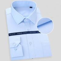 high quality winter autumn men plus size big dress shirt long sleeve 6XL 8XL 10XL 12XL formal office shirts Business navy blue