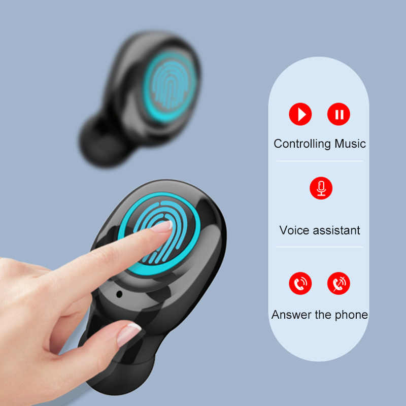 سماعات لاسلكية بلوتوث سماعة الرياضة تشغيل سماعات الأذن مع الميكروفون Tws سماعة الألعاب التحكم باللمس سماعات للأذن صغيرة PK F9