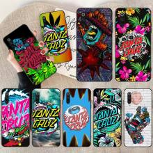 цена на NBDRUICAI Skateboard Santa Cruz brand Black Soft Rubber Phone Cover for Redmi Note 8 8A 7 6 6A 5 5A 4 4X 4A Go Pro Plus Prime
