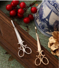 Fashion Metal Scissors Hairpin Clip
